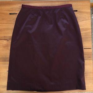 GAP Dark Burgundy Silky Smooth Short Skirt